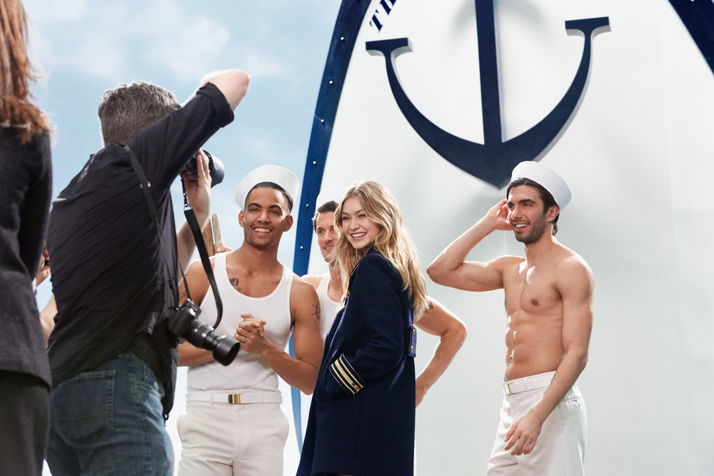 Behind the scenes with Gigi Hadid and 'The Girl' by Tommy Hilfiger.