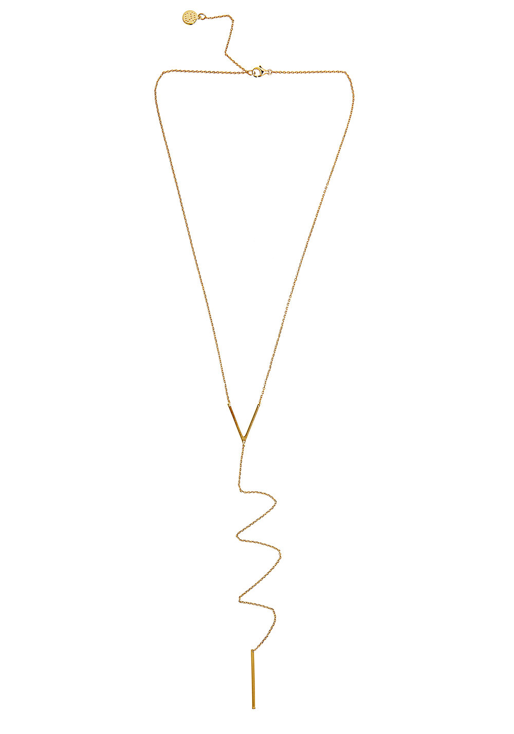 Silk & Steel It%27s a Long Road Gold Plated Sterling Silver Necklace $139 www.silkandsteel.co.nz.jpg