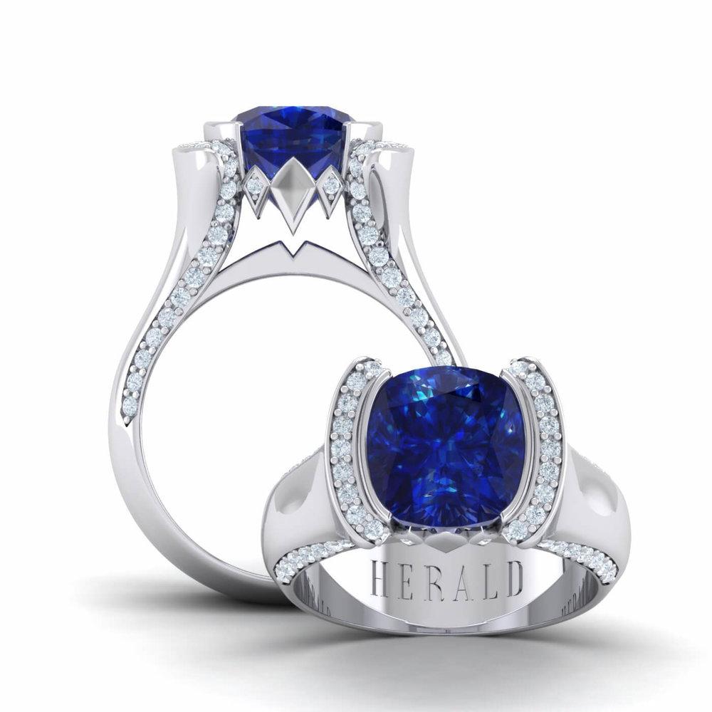 Tanzanite and diamond Herald ring