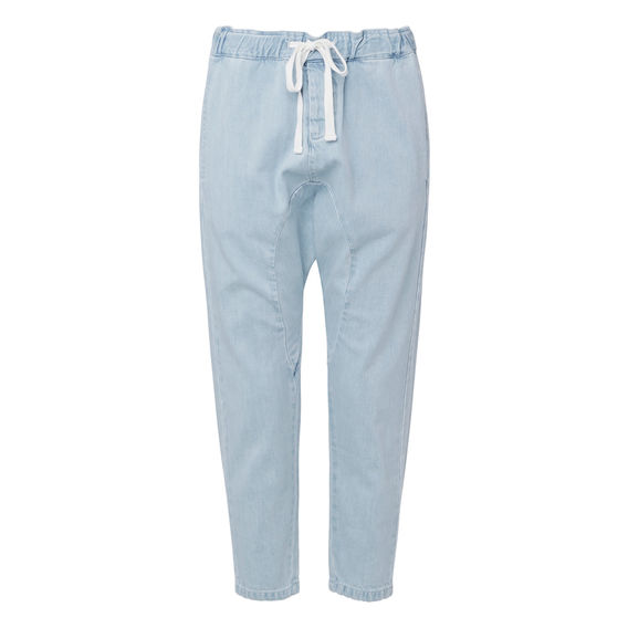blue Cropped Harem pant by seed