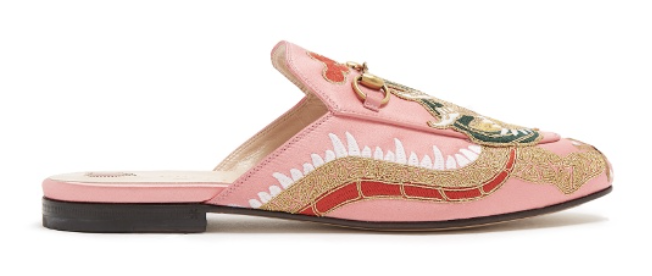 Gucci Princetown jacquard backless loafer