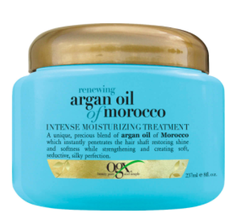argan oil morocco in blue and gold jar