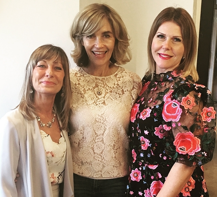 Editor Trudi Brewer with Donna Tait (left) and Kirsti Shuba (right).