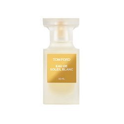 Tom Ford  Eau De Soleil Blanc in clear bottle with gold labelling
