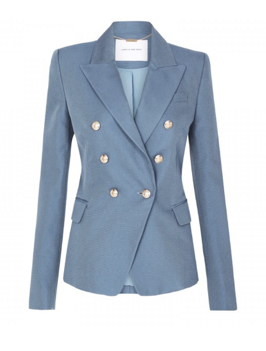 Camilla and Marc Dimmer blazer in baby blue