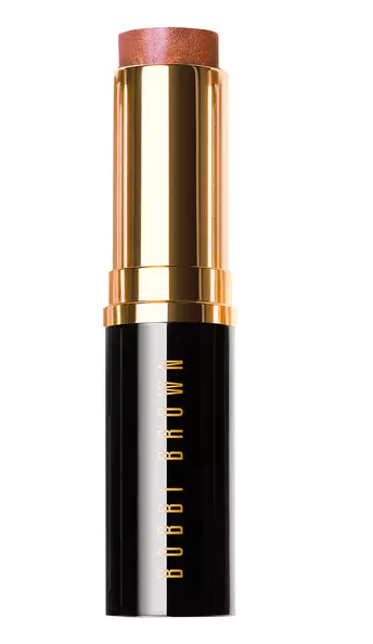 Bobbi Brown glow stick in nude beach colour with black and gold case