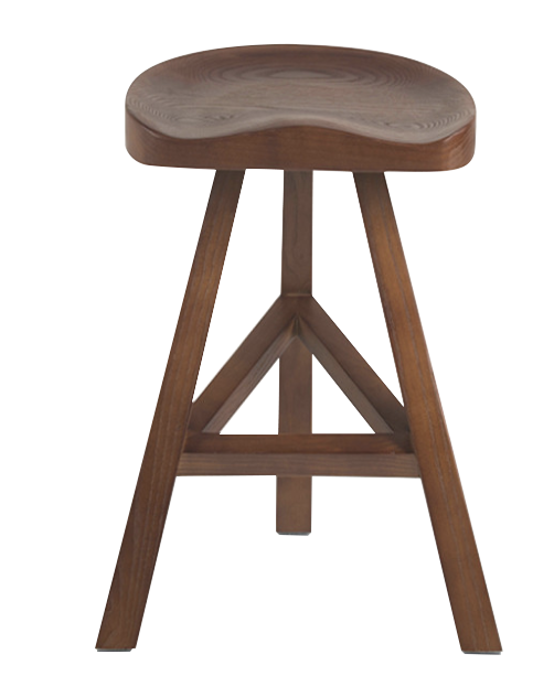 Me & My Trend Walnut Wood Moulded Bar stool
