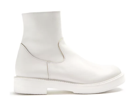 Junya Wataname Smooth-leather ankle boots