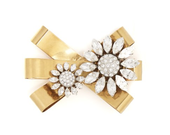 Miu Miu Crystal-embellished bow brooch