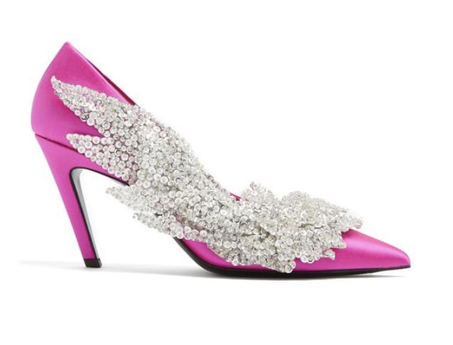 Balenciaga pink heels