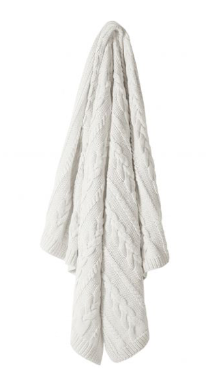 Cable knit throw Linens and More