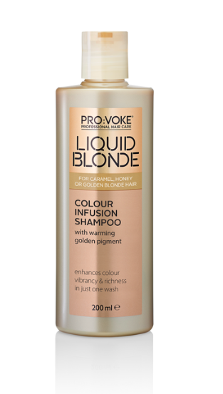 Provoke liquid blonde colour infusion shampoo