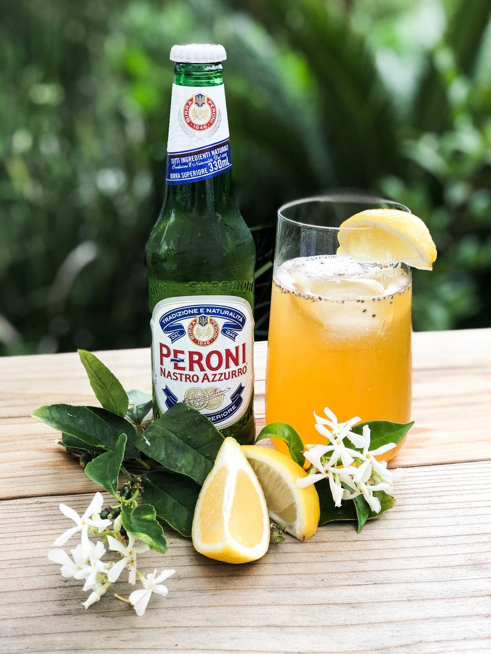 Peroni Gold Rush cocktail