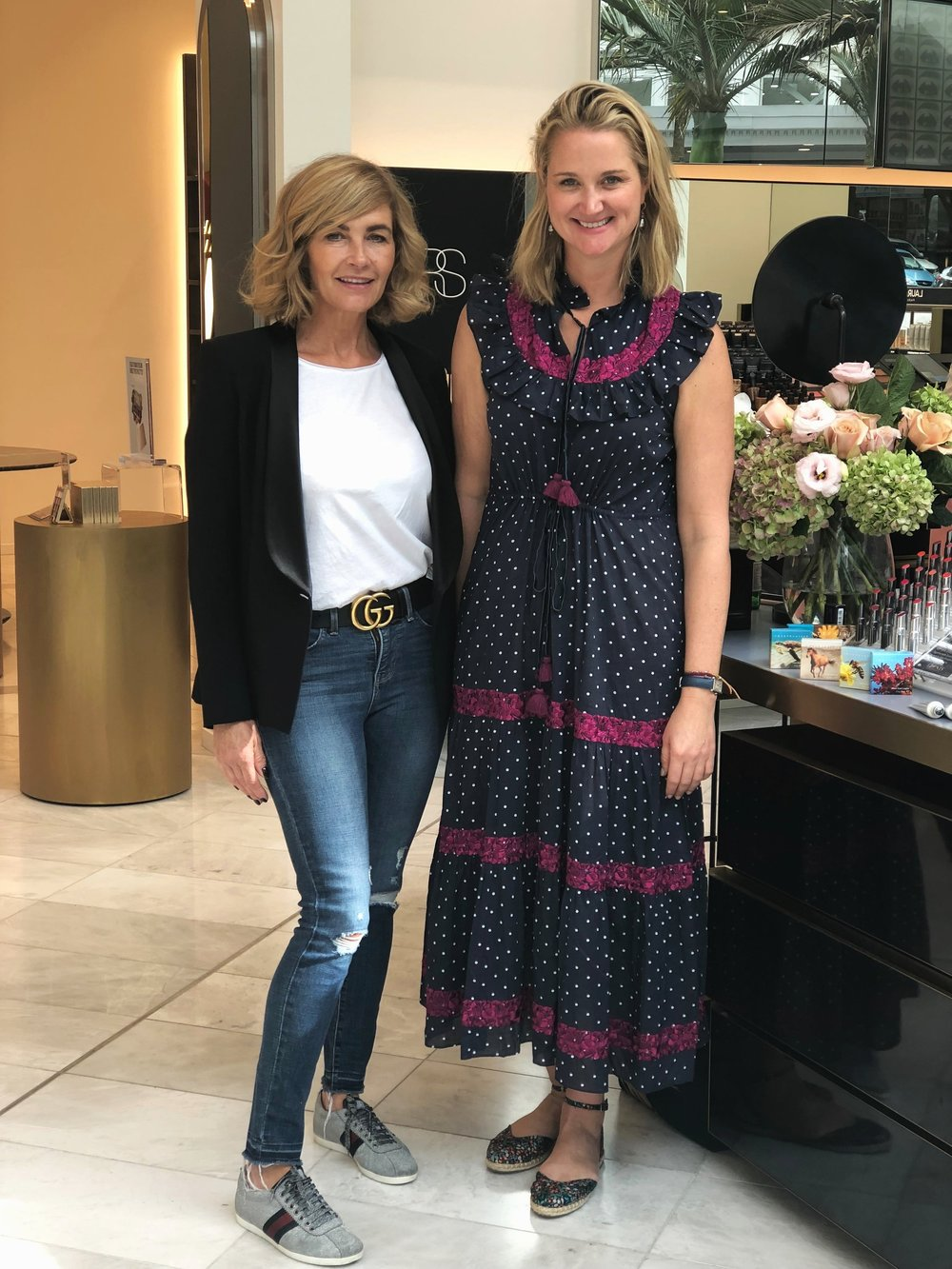 Alex Chantecaille with editor+Trudi Brewer from BeautyEQ