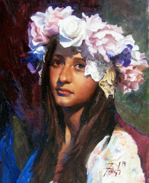 Alyssa Oil Painting On Canvas By Kris Finch 2014