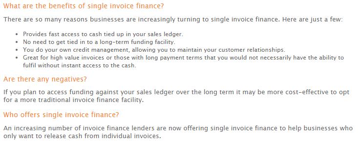 UK single invoice