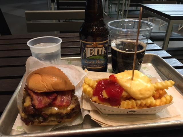 Shake SmokeStack burger.JPG