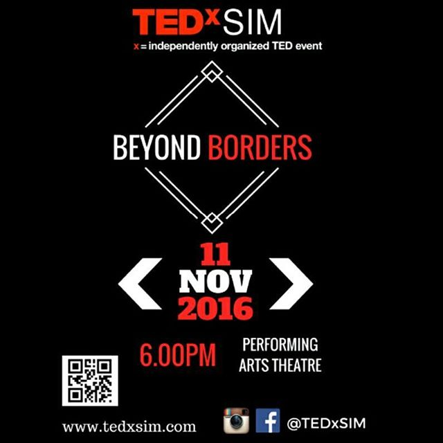"""Preparations are underway for the first-ever TEDxSIM, themed """"Beyond Borders""""! Stay tuned for more information, volunteer recruitment, and audience registration. In the meantime, check out our website and facebook page for event information and updates!"""