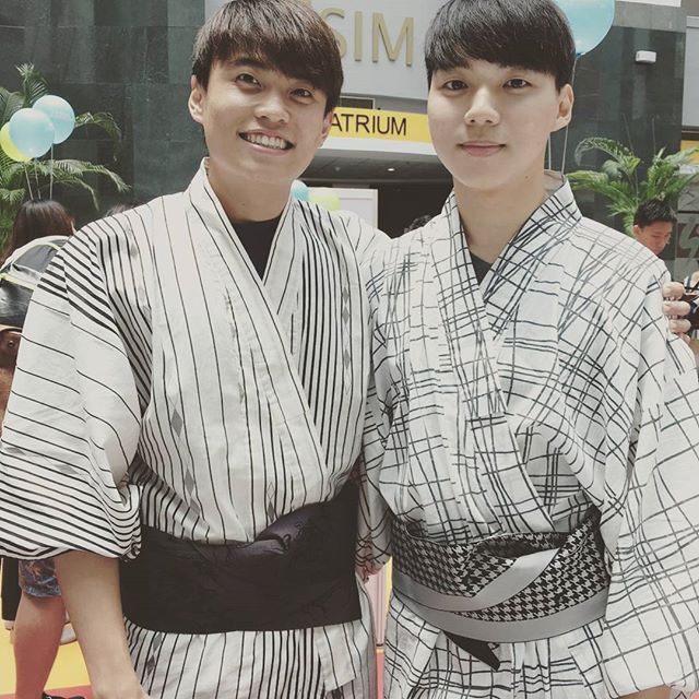Meet our two Korean boys in Yukata! Interested in learning Korean or Japanese culture? Join Global Learning! 😆