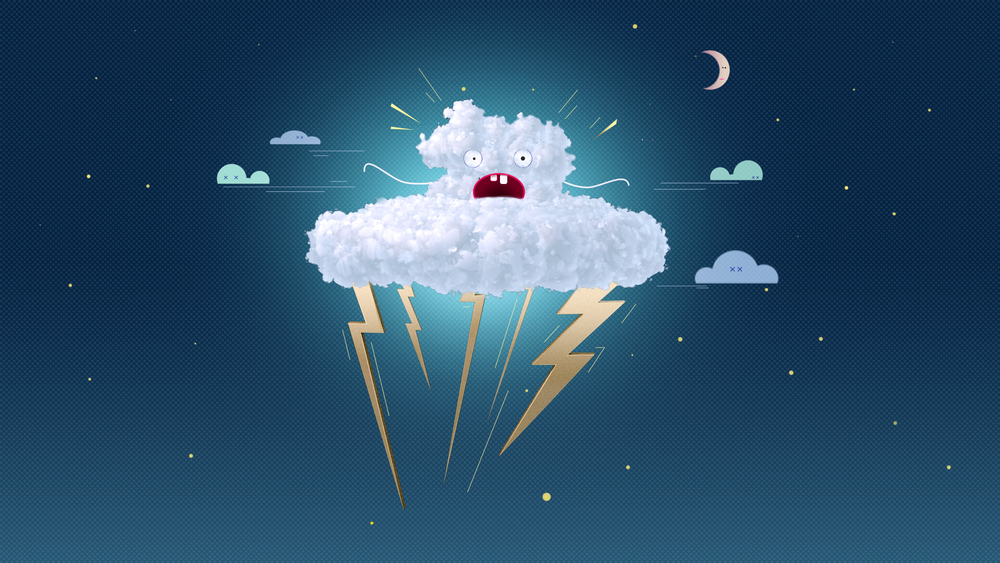 Le cloud having a diarrhea. It is raining cats and dogs!