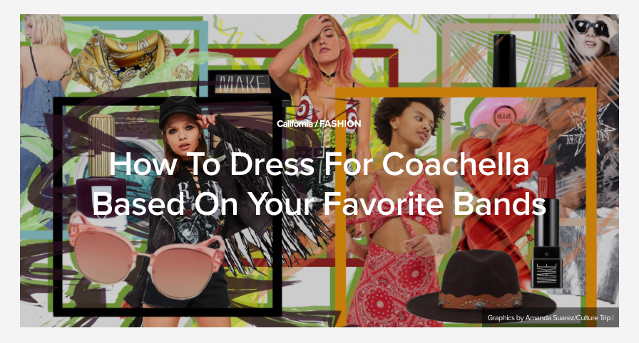 How To Dress For Coachella Based On Your Favorite Band x Missguided - An affiliate campaign with missguided targeted to millennial and Generation Z concert goers who shop the latest trends on a budget.