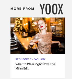 YOOX What to Wear Right Now, the Milan Edit - A campaign for YOOX geared specifically to the female solo traveler who's visiting Milan and wants to dress like the city.