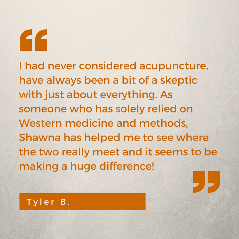 skeptic acupuncture new patient testimonial Tyler B. Shawna Seth, L.Ac. San Francisco Oakland