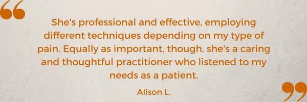 patient testimonial Alison L. Shawna Seth, L.Ac. San Francisco Oakland