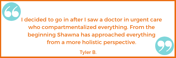 patient testimonial Tyler B. Shawna Seth, L.Ac. acupuncture San Francisco Oakland