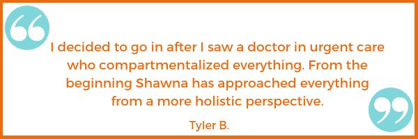 patient testimonial Tyler B. Shawna Seth, L.Ac. acupuncture San Francisco Oakland