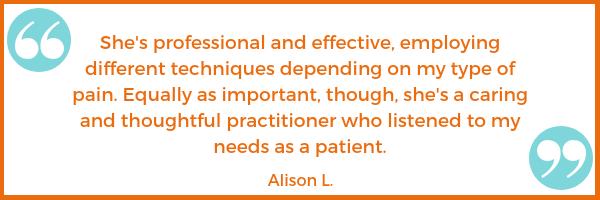 pain testimonial Alison L. Shawna Seth, L.Ac. acupuncture San Francisco Oakland