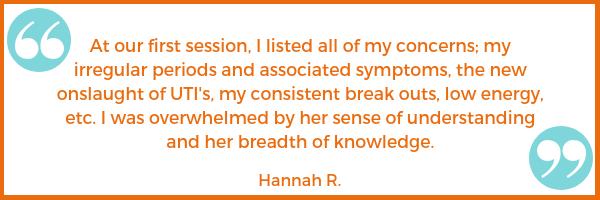 menstrual cycle testimonial Hannah R. Shawna Seth, L.Ac. acupuncture San Francisco