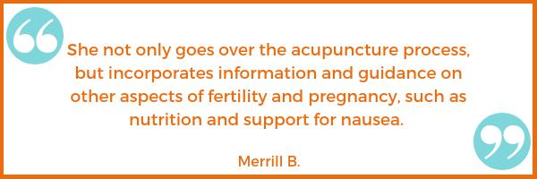 pregnancy morning sickness nausea fertility testimonial Merrill B. Shawna Seth, L.Ac. acupuncture San Francisco