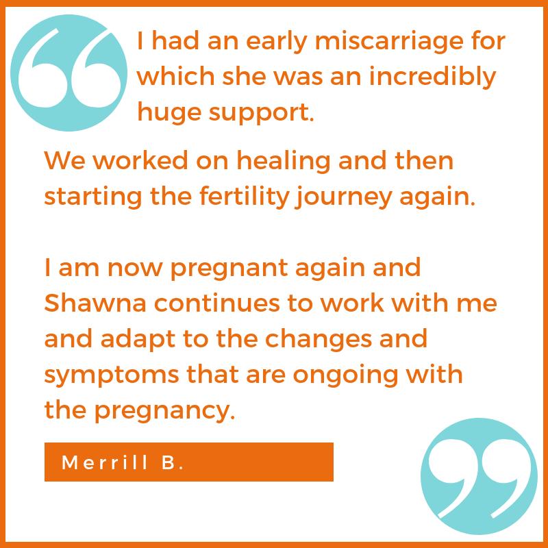 pregnancy miscarriage fertility testimonial Merrill B. Shawna Seth, L.Ac. acupuncture San Francisco