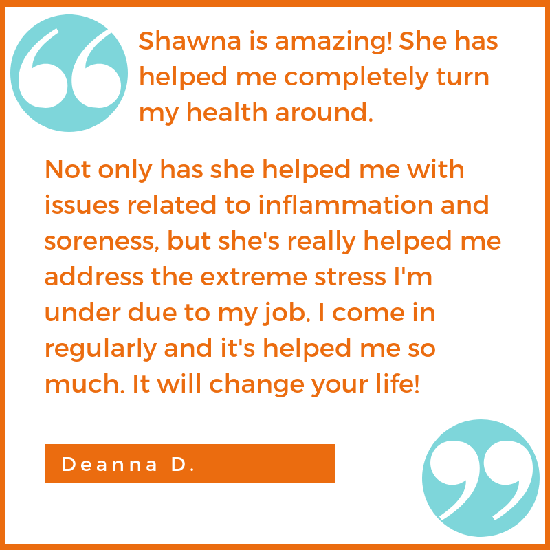 stress inflammation testimonial Deanna D. Shawna Seth, L.Ac. acupuncture San Francisco