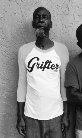 Eddie in his new clean Grifter T shirt