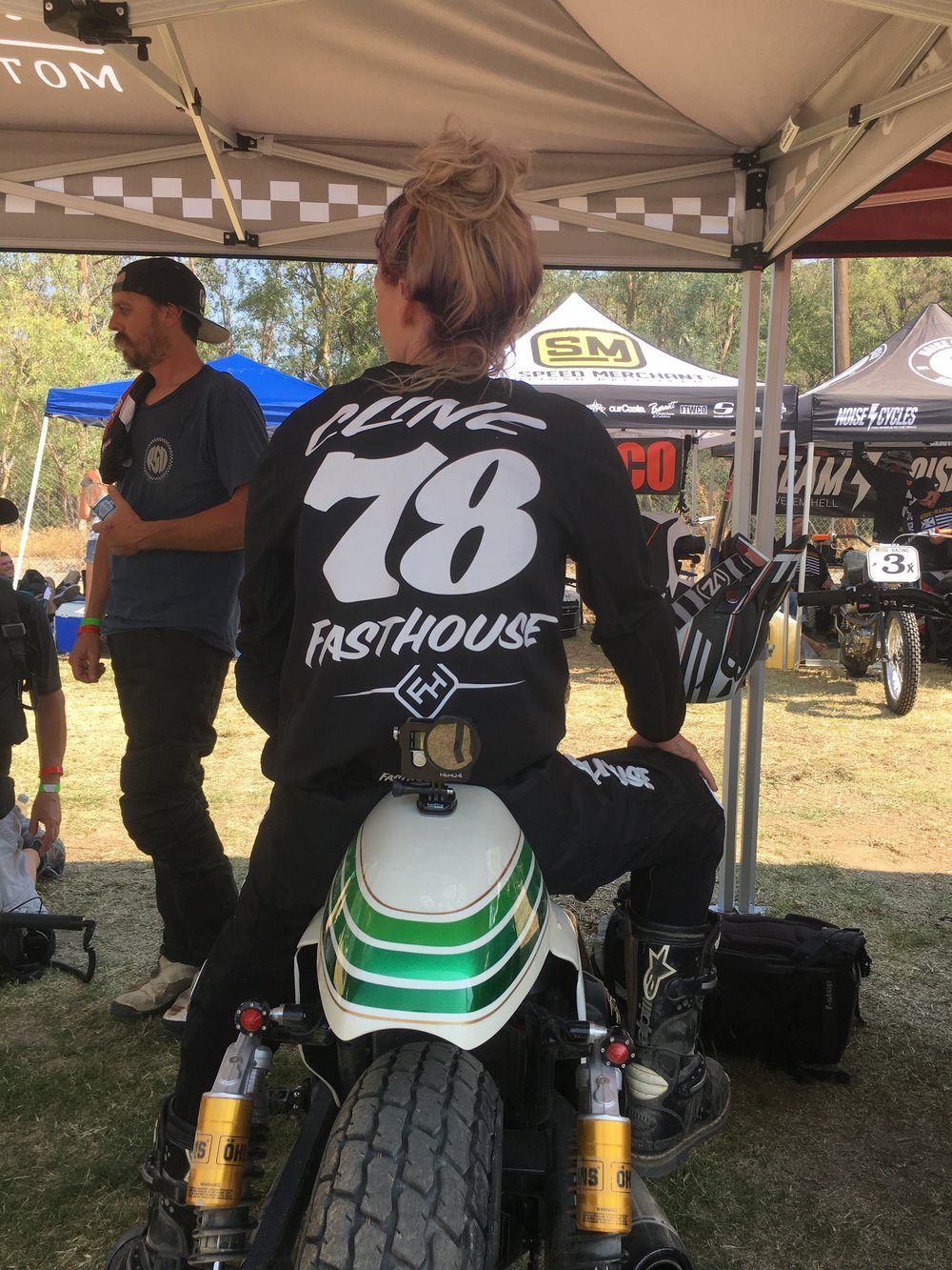 Leticia Cline. Hooligan Flat Track Racer at Lost Highway
