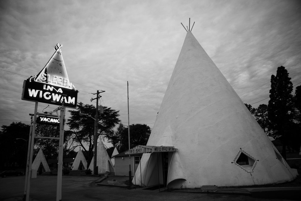 The reasons for staying overnight in the  Wigwam Village  have changed over the years. Travelers originally wanted to experience the romance of the Old West; now they want to experience the romance of Old Roadside America. The rooms are still very much the same as the were in 1937, too hot in the summer and too cold in the winter, no telephones, hickory beds and cane furniture. They are small by today's standards but that's not the point. You can stay in a mainstream hotel anytime and almost anywhere but there's not many chances you will have to stay at a concrete  Tee Pee  in South Central Kentucky in one of the last few remaining pieces of roadside history that gave comfort to the original American Expeditioner.