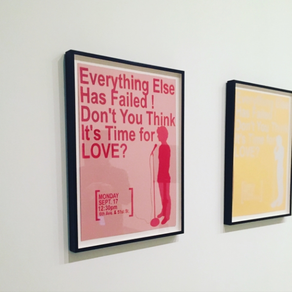 by Sharon Hayes. Found at The Museum of Modern Art, NYC.