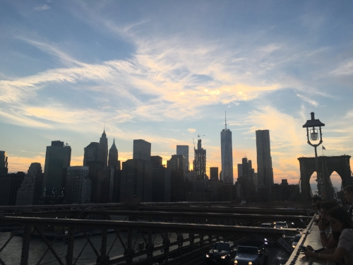 good decision: finally walking across the brooklyn bridge