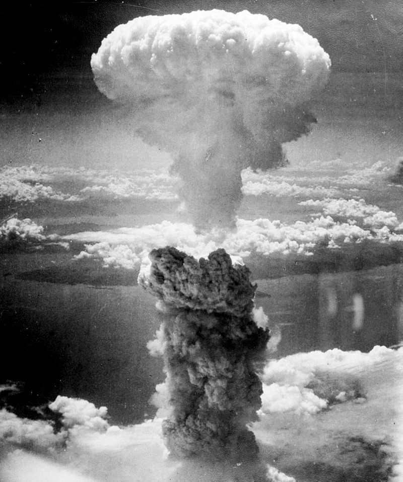 Nuclear explosions are exponentially more powerful because they release energy that was stored not in the electrons but the nuclei of the fissile material; this is the mushroom cloud that formed over Nagasaki when the U.S. dropped a plutonium bomb comparable to the one detonated at the Trinity test in New MExico
