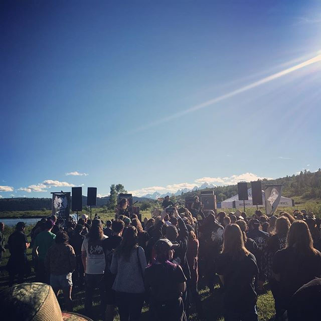 When there's a metal festival happening in the tetons, you go. Fire In the Mountains you're killing it. #jacksonhole