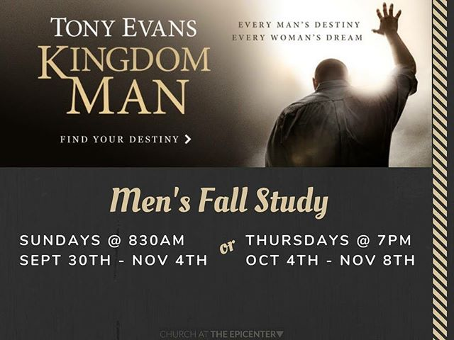 The Kingdom Men study will start THIS SUNDAY Sept. 30th. If you would like to purchase a study book, see Pastor Charles Jones ASAP so we can make sure you have a book in time for the study.  Pastor Charles is very excited about the potential of this series as it is an encouragement and a call for all men to grow in the Lord. #revivalstartswithme