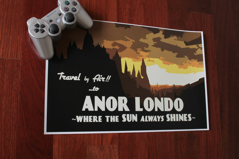 Dark Souls Anor Londo Vintage Travel Poster Etsy