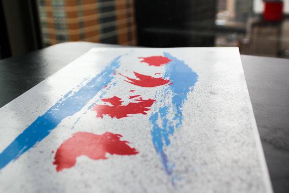 Chicago Flag Art