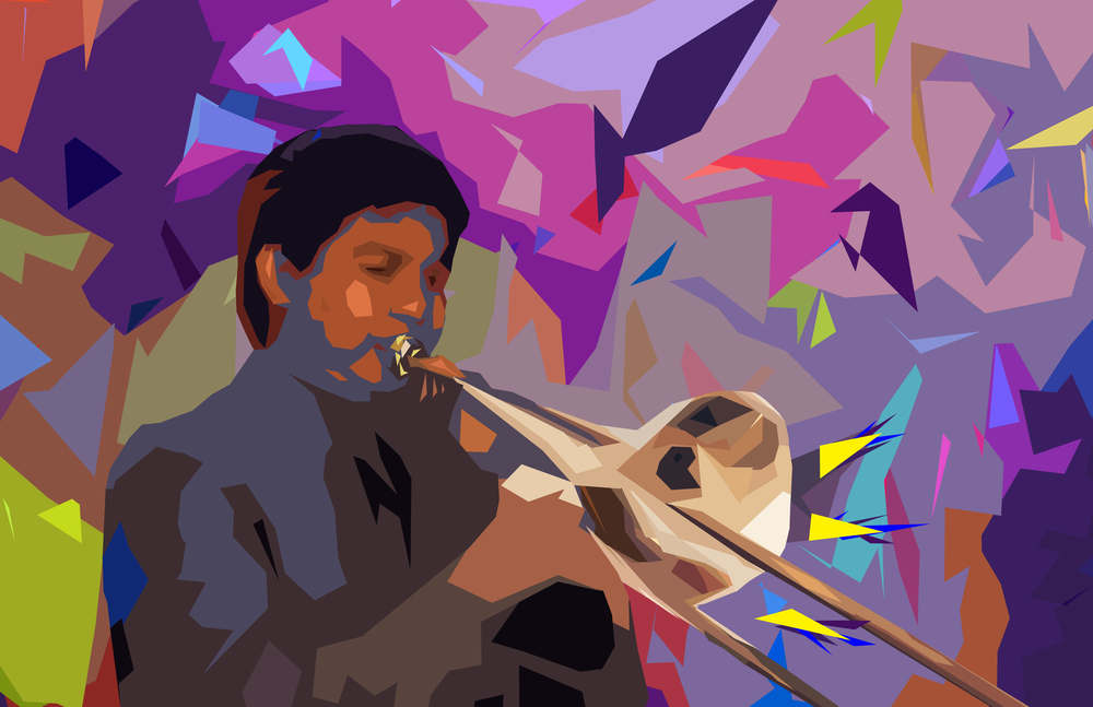 The trombonist New Orleans Jazz