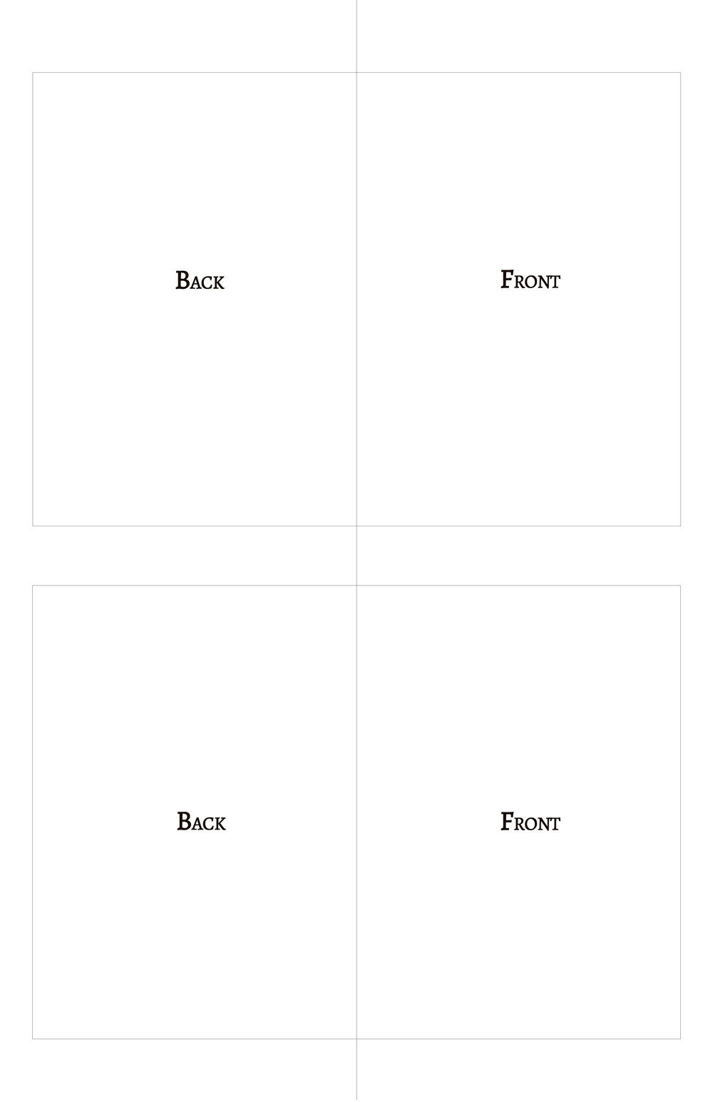 A7 greeting card layout