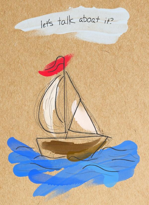 fingerpaint boat