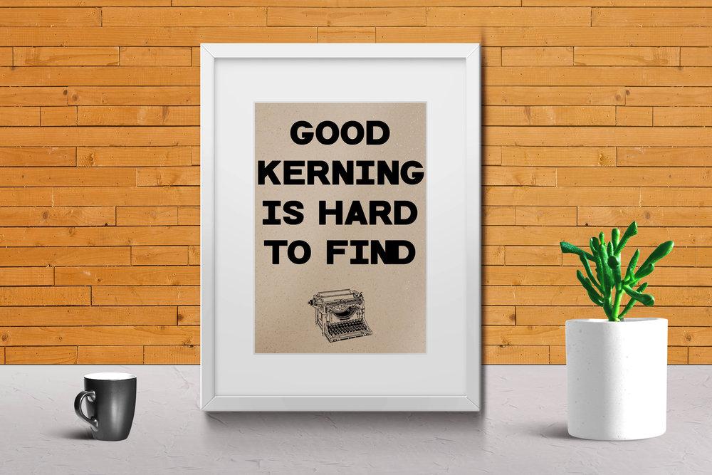 Kerning print