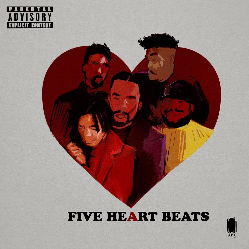 iTunesSpotifyTidalGoogleAmazon - 5 Heartbeats Ft. Yung Tact, Orlando Coolridge, Mani Jurdan, W.ILL, & Earn Money (Prod. By Seydina) - Single